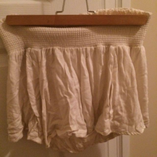 Brandy Melville white flowy loose skirt