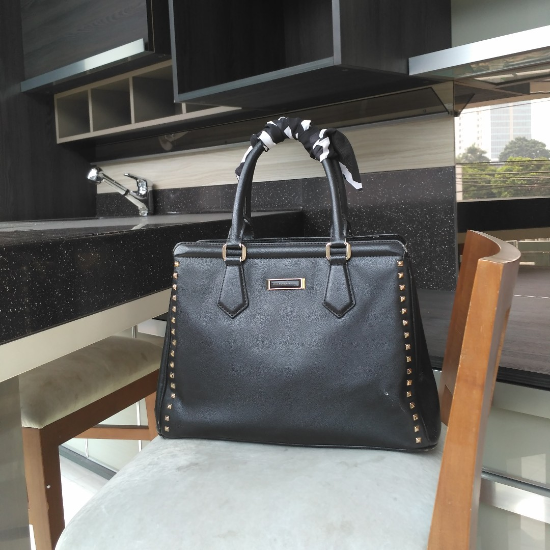 CHARLES AND KEITH STUDDED TOTE BAG