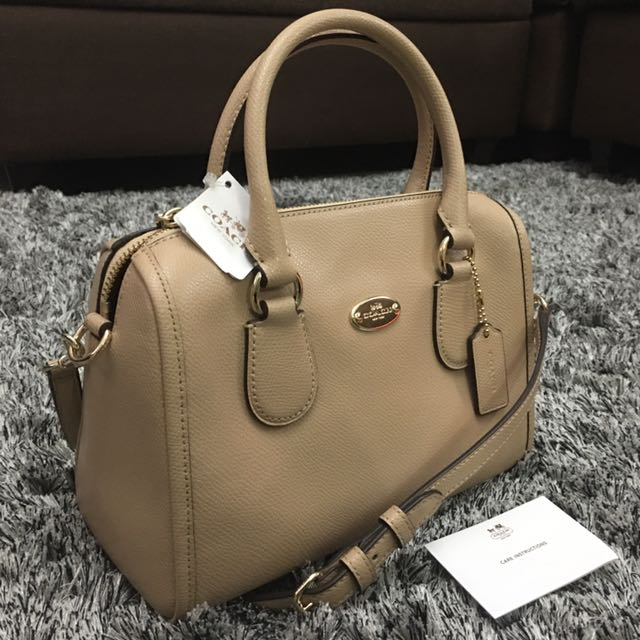 Coach nude mini satchel