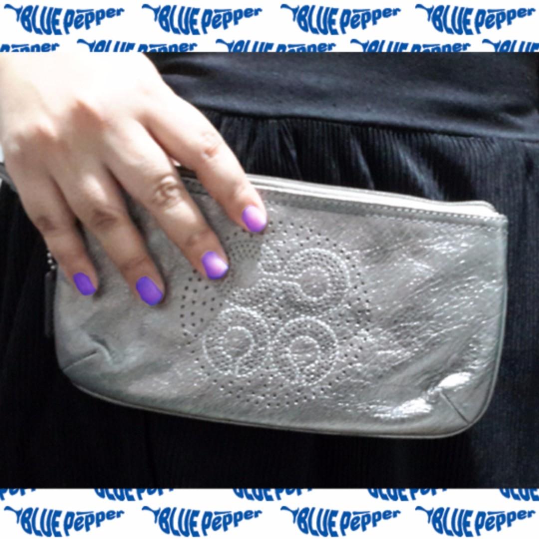 COACH Pouch Bag Mettalic Silver 47773 SV/Gunmetal *SALE* 👜👛👝