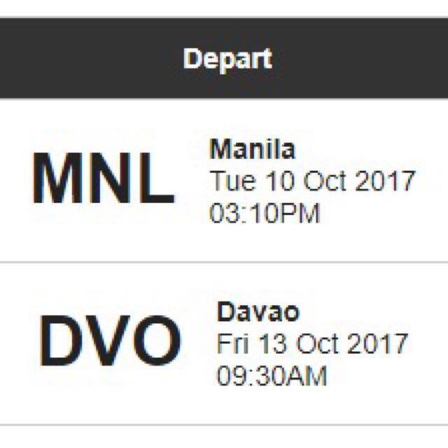 DAVAO Plane Ticket