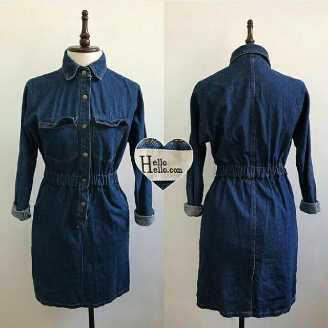 Denim Dress Long Sleeves