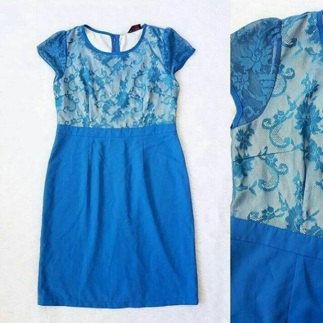 Dress Blue (Size XL kecil Setara L)