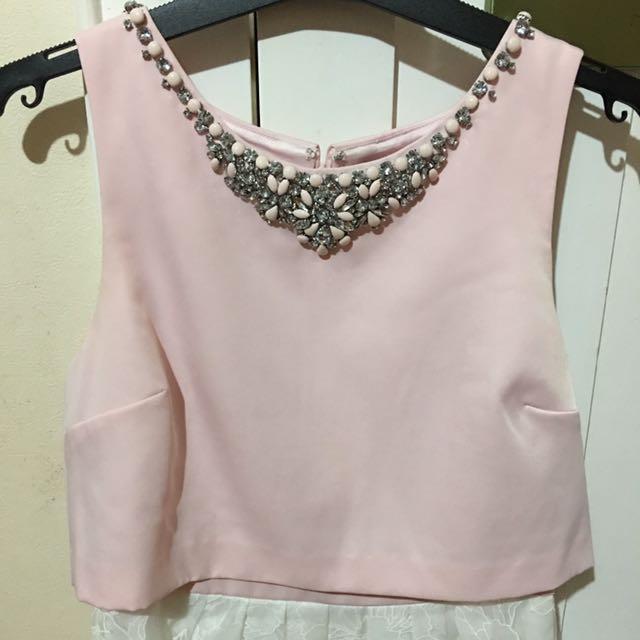 Forever New Pink Embellish Dress