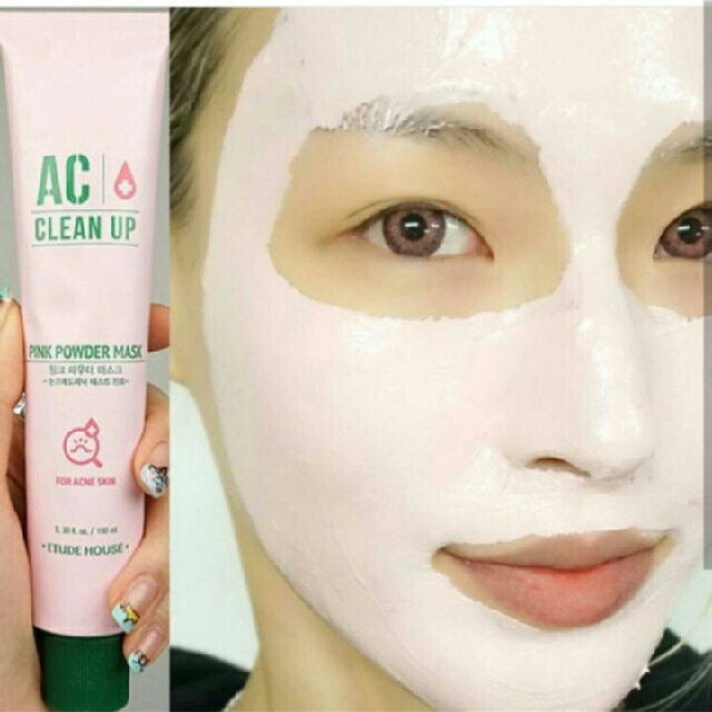 Free Ongkir!! AC Clean Up Pink Powder Mask 100ml