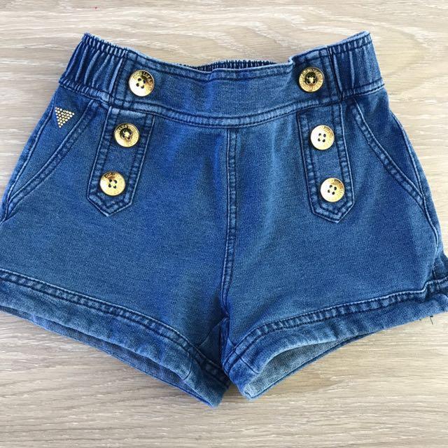 Girls Guess Denim Shorts