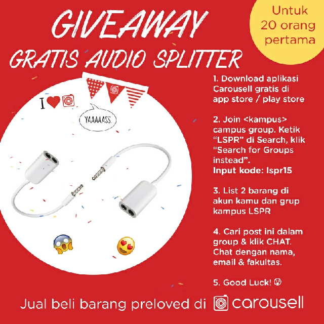 GIVEAWAY AUDIO SPLITTER