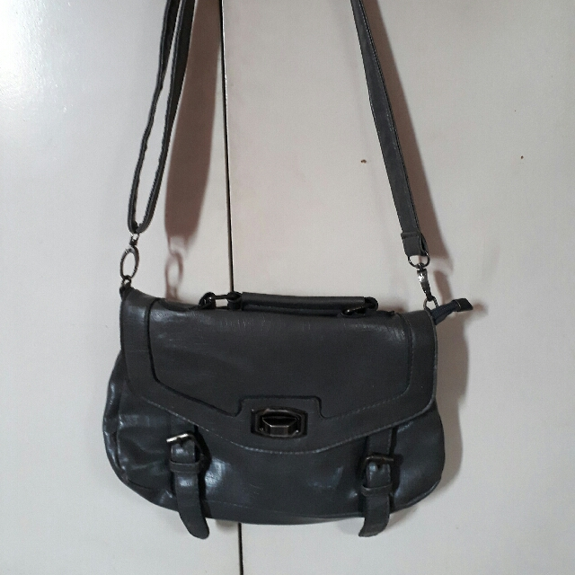 Gray Sling bag