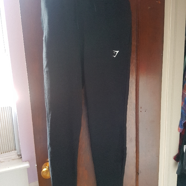 Gymshark Black High Waisted Joggers