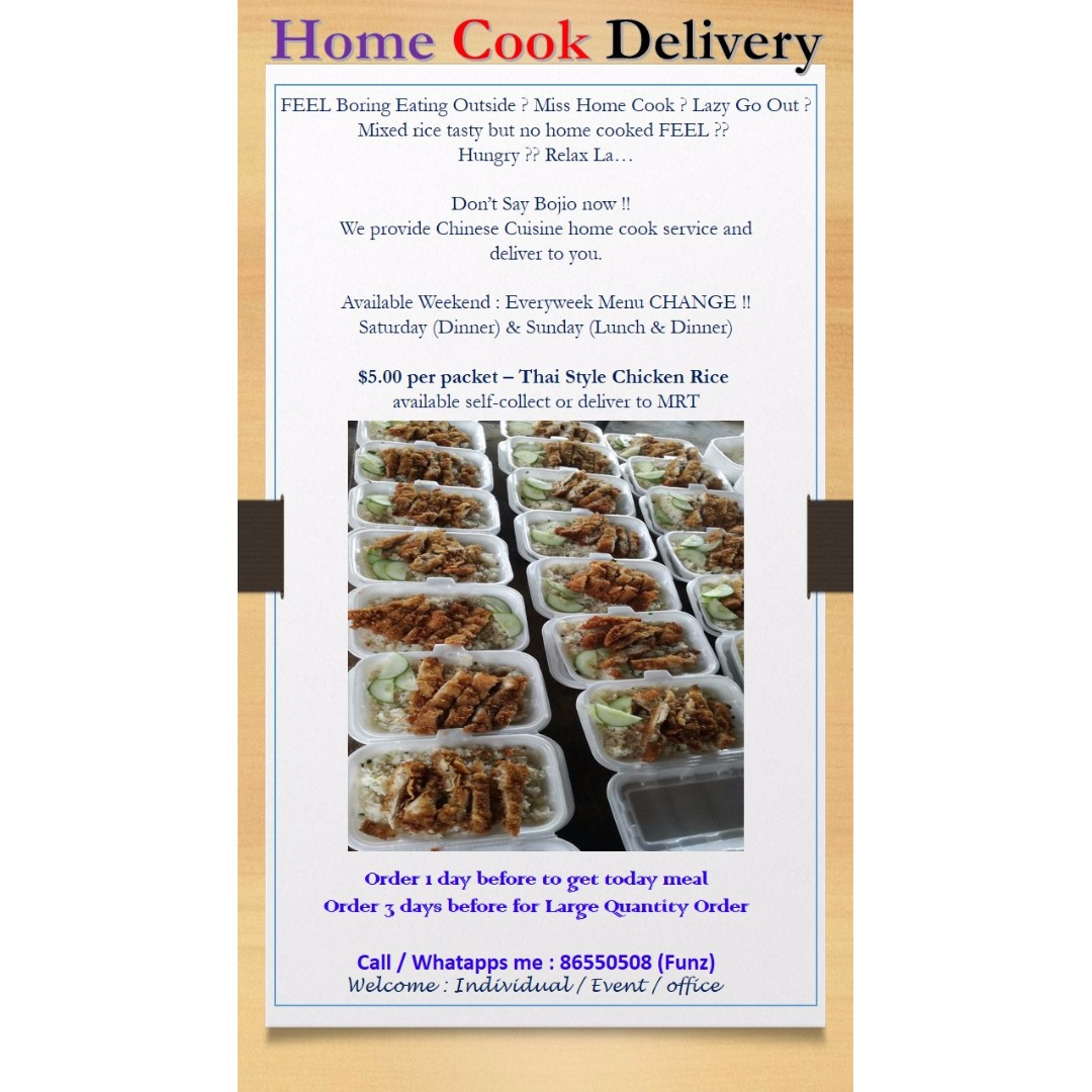 Home Cook Delivery, Food & Drinks, Packaged Snacks on Carousell
