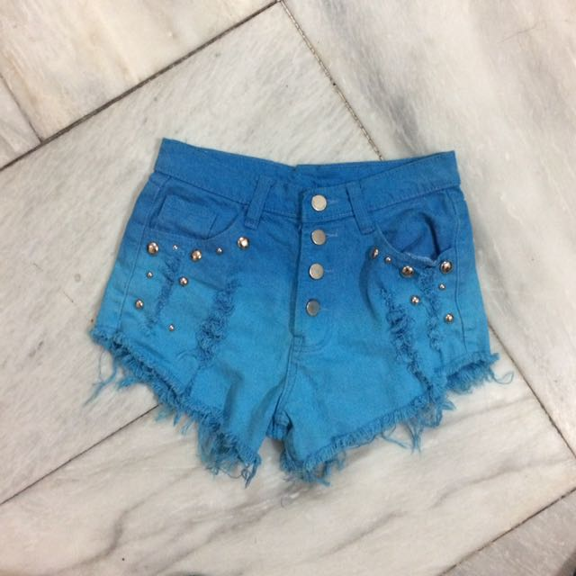 HW Blue Ombre Shorts