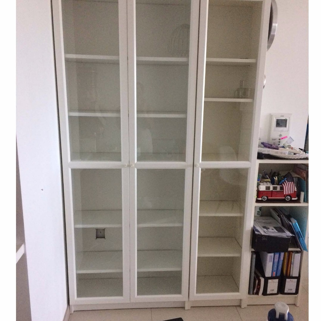 Ikea Bookcase With Glass Doors Furniture Shelves Drawers
