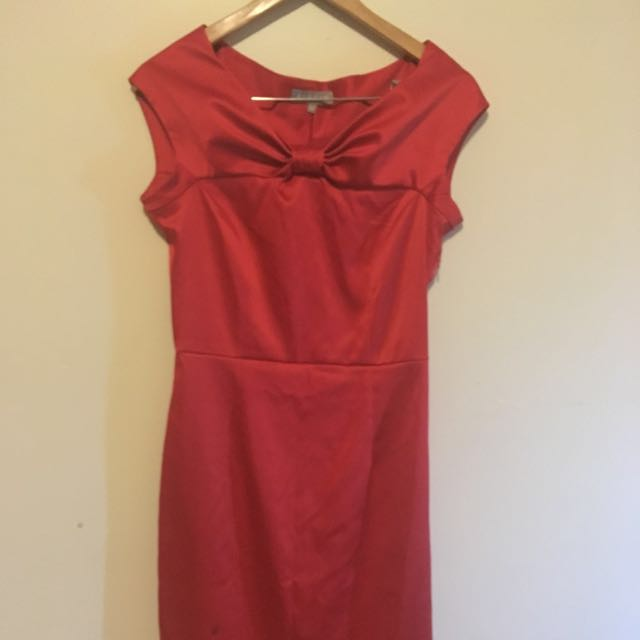 Jigsaw red formal dress