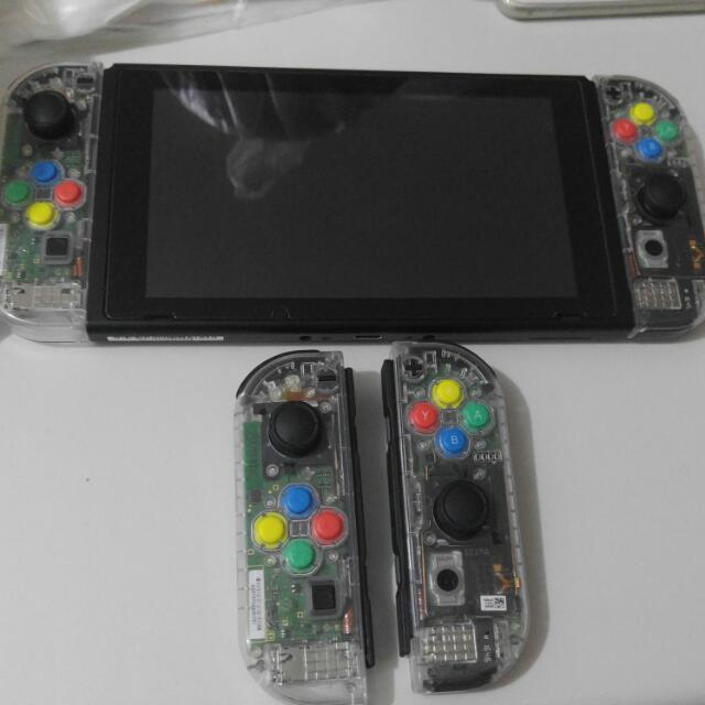 代改透明Joycon / 機底殼