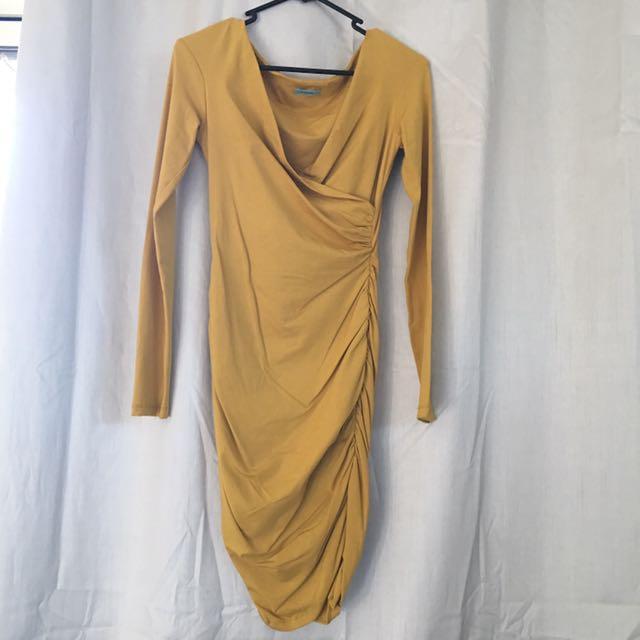 Kookai Mustard Dress