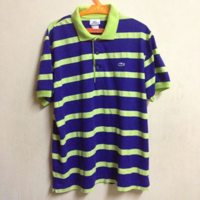 LACOSTE BLUE YELLOW POLO SHIRT