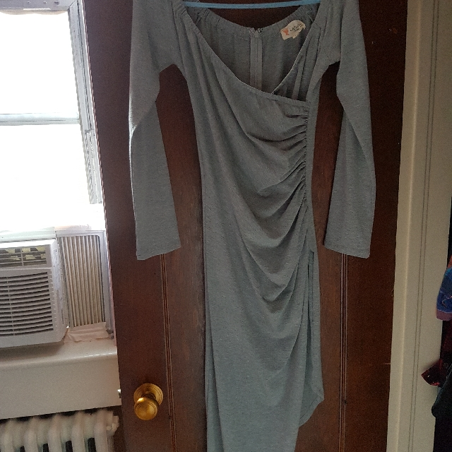 Long Sleeve Asymmetrical Dress