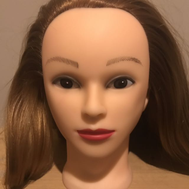 Mannequin Head (Synthetic Hair) With Table Clamp!
