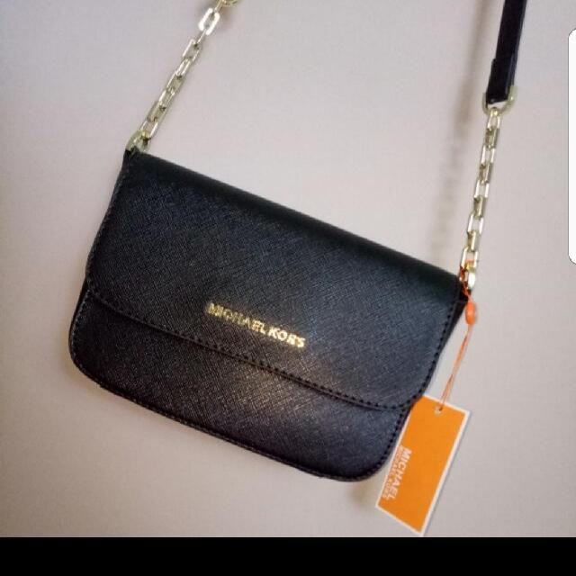 Michael Kors Black Mini Side Bag/Clutch