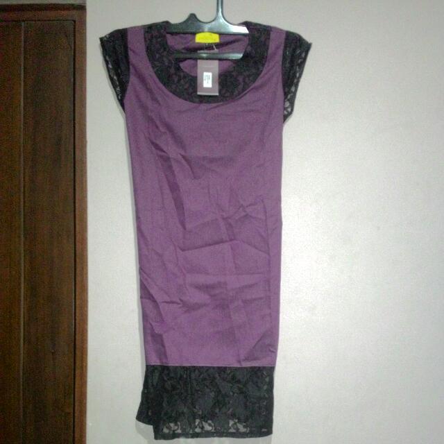 Midi Dress Tanpa Merek