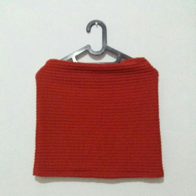 mini skirt orange