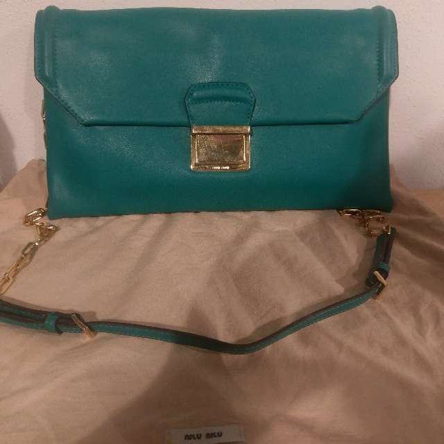 🔥Price reduced-Authentic Miu Miu Borsa Green Clutch