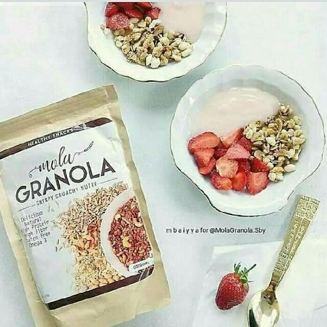 Mola Granola Healthy Snacks Rasa Ori [3 Pcs] Recent Model .