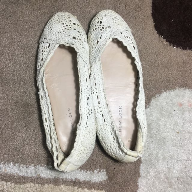 New Look Lace White Flatshoes