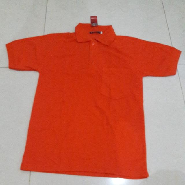 NEW Polo Shirt Pocket Orange Size M