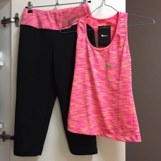 Nike gym top and tights