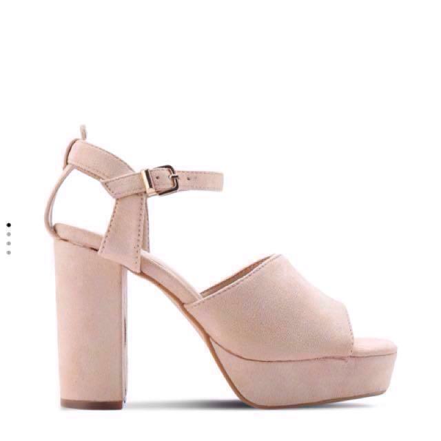 e0f471177d6 Nude platform high heels (SOMETHING BORROWED) ZALORA
