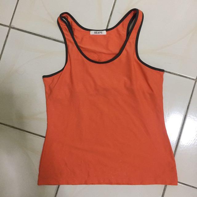 Orange Workout Top