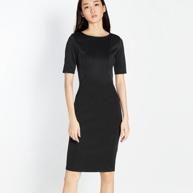 Pomelo black Midi dress 5b02e96af