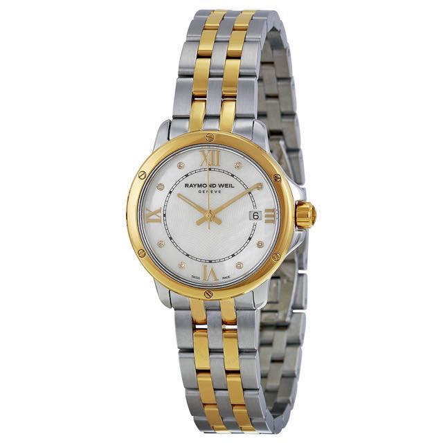 (Quote your own Price) WTS Raymond Weil Tango Mother Of Pearl Diamond Dial Two Tone Stainless Steel Ladies Watch
