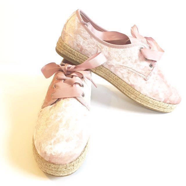Rubi Velvet Pink Sneakers