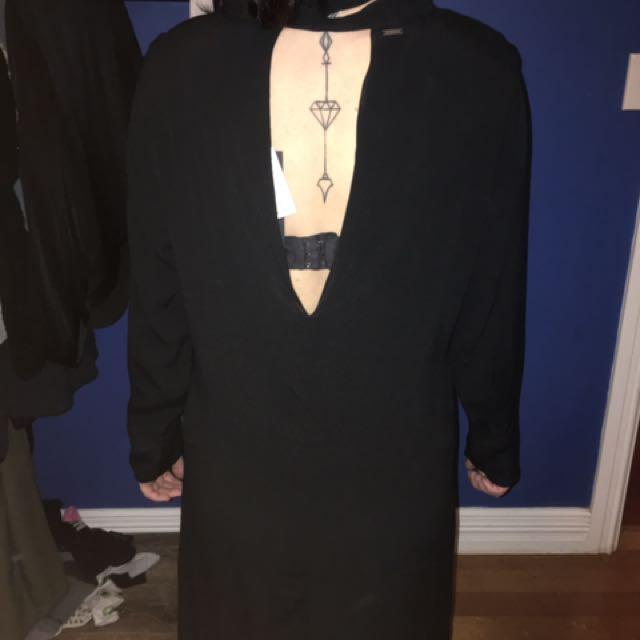 Rusty black dress