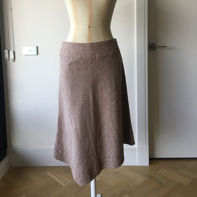 Size 10 Country Road Skirt - Linen /silk