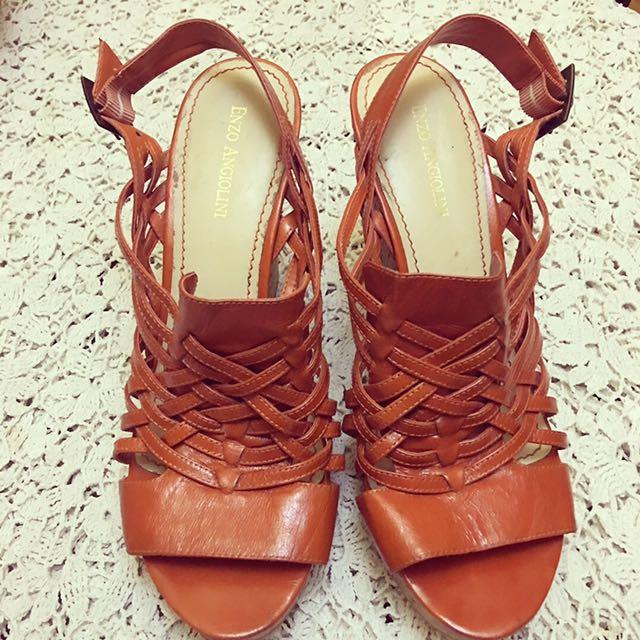 Size 8.5 Enzo Angiolini Cork Wedge Shoes