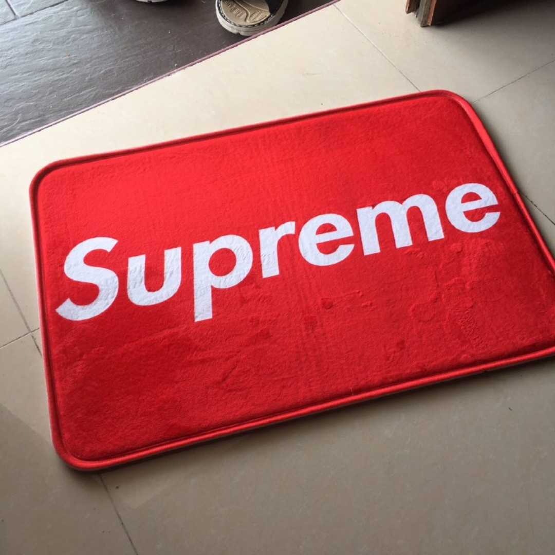 photo photo photo & supreme doormat Home u0026 Furniture Home Décor on Carousell