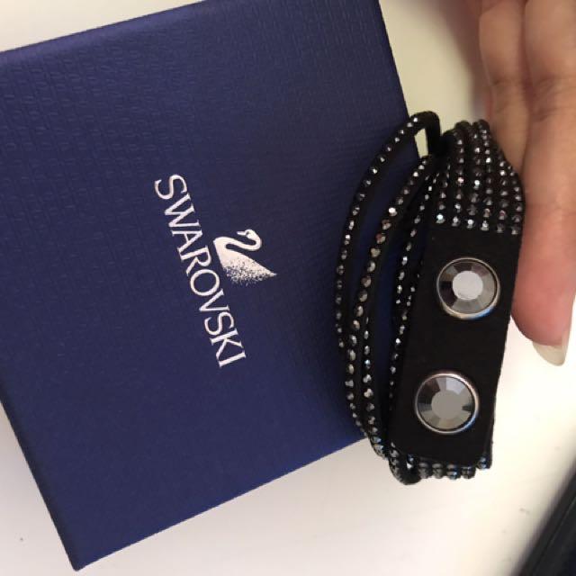 Swarovski jet black Slake bracelet