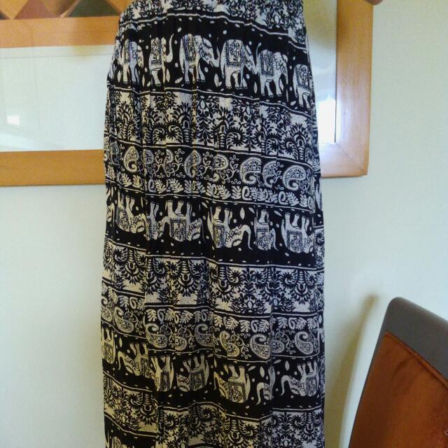 Thai Boho Maxi Skirt
