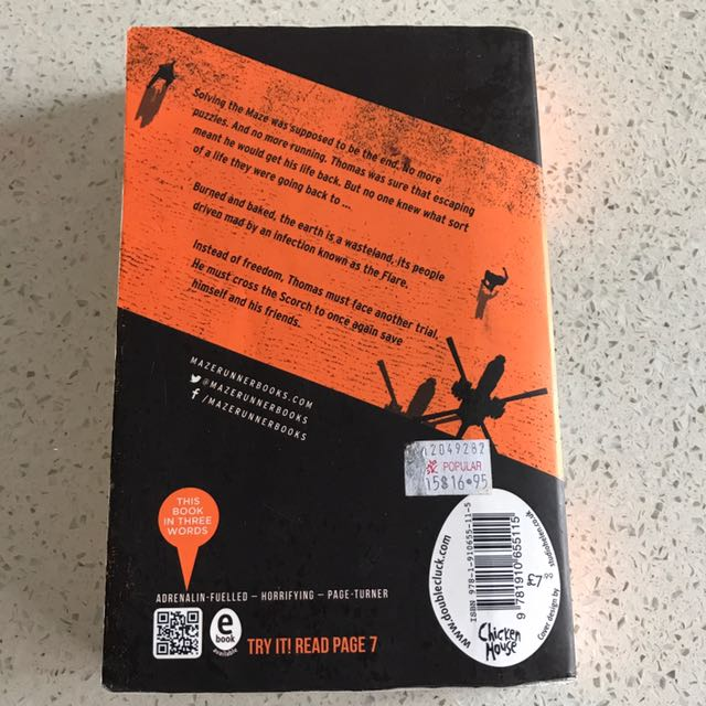 The Scorch Trials James Dashner Books Stationery Fiction On