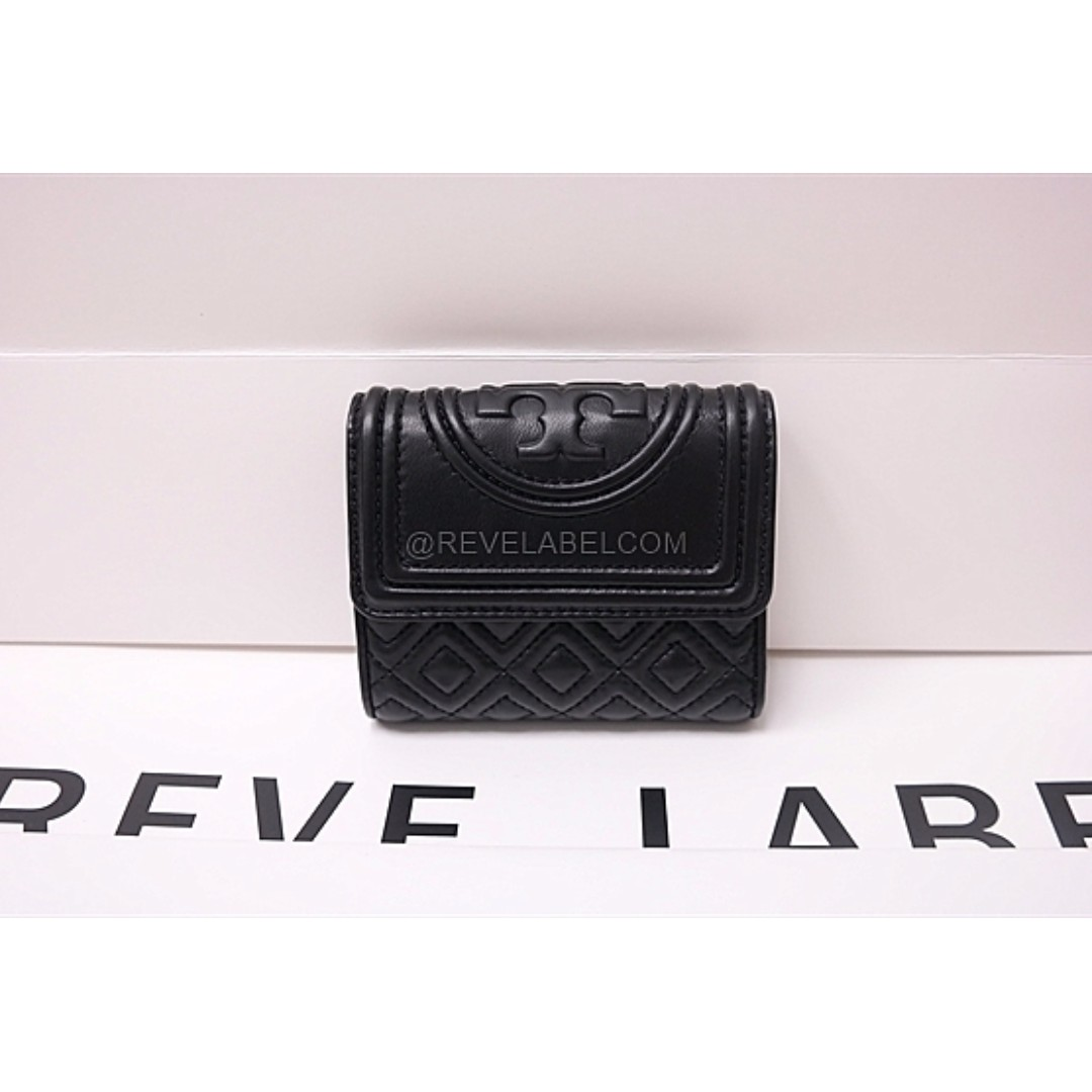 5517949d690 ... sale tory burch fleming small flap wallet black 31460 001 luxury bags  wallets on carousell 1d596