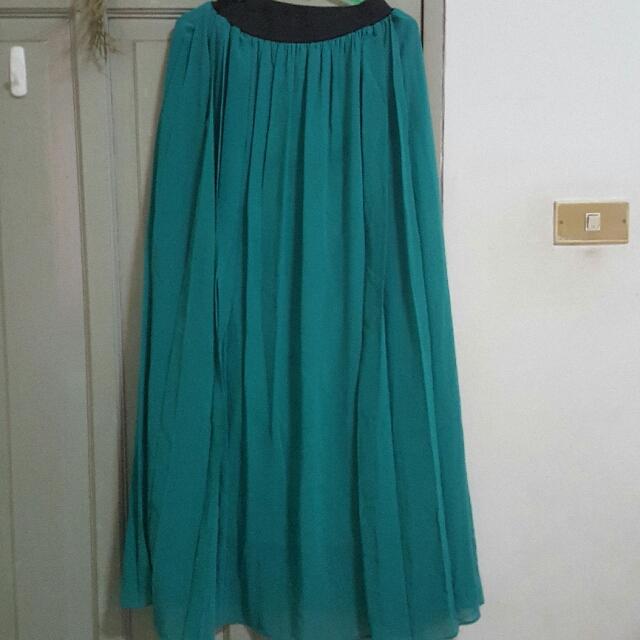 Turqoise Green Maxi Skirt