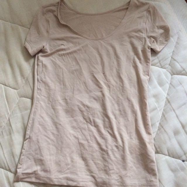 Uniclo Spandex undershirt never worn beige
