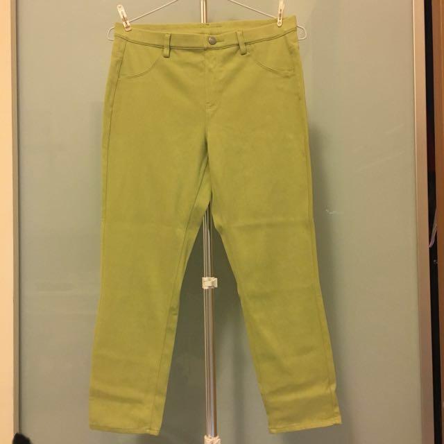 Uniqlo彈性合身8分褲