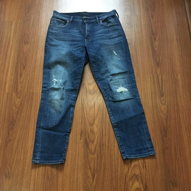 Uniqlo distressed jeans