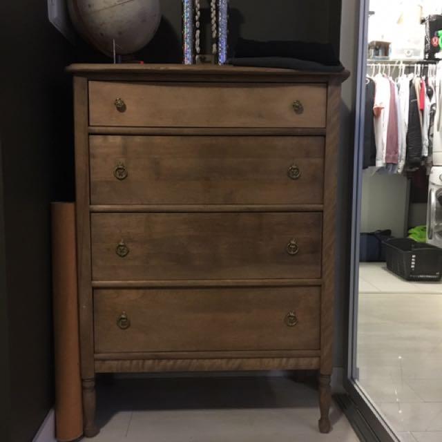 Vintage Antique Tall Boy Dresser