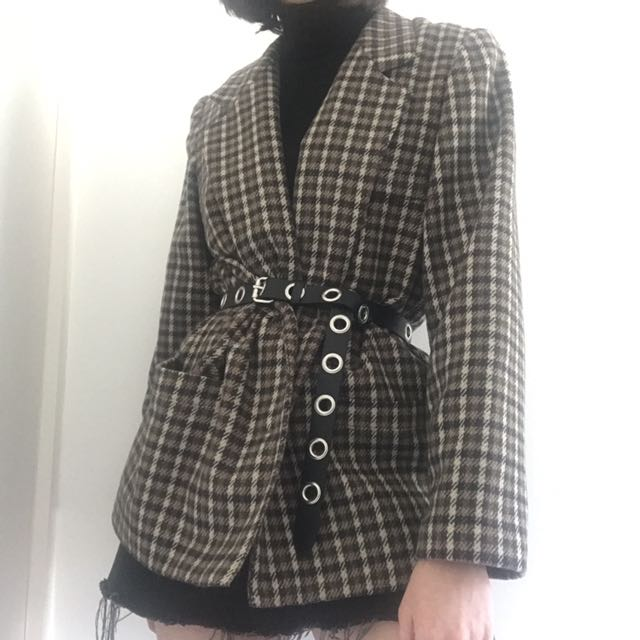 Vintage Tweed Blazer Jacket