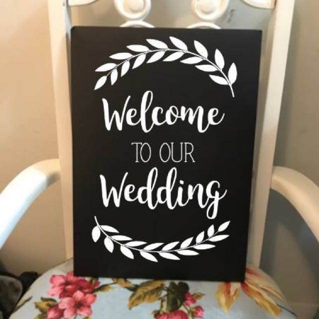 Welcome to your wedding chalkboards